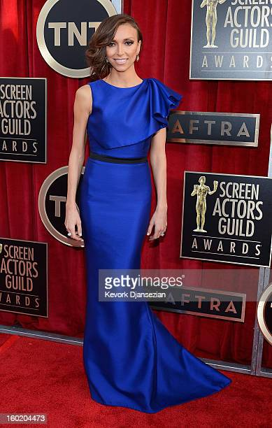 Personality Giuliana Rancic arrives at the 19th Annual Screen Actors Guild Awards held at The Shrine Auditorium on January 27, 2013 in Los Angeles,...