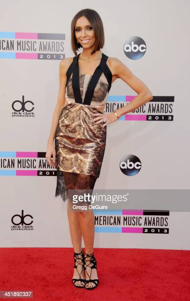 TV personality Giuliana Rancic arrives at the 2013 American Music Awards at Nokia Theatre LA Live on November 24 2013 in Los Angeles California
