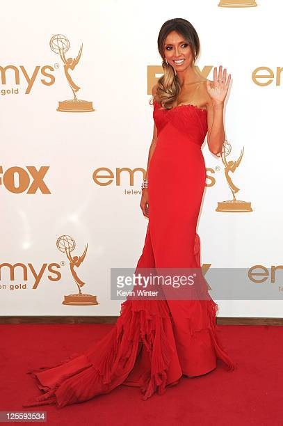 TV personality Giuliana Rancic arrives at the 63rd Annual Primetime Emmy Awards held at Nokia Theatre LA LIVE on September 18 2011 in Los Angeles...