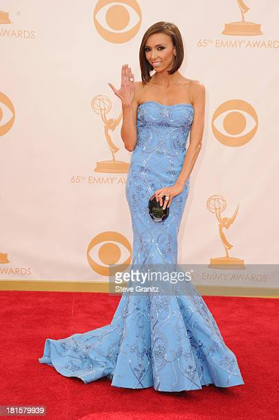 TV personality Giuliana Rancic arrives at the 65th Annual Primetime Emmy Awards held at Nokia Theatre LA Live on September 22 2013 in Los Angeles...