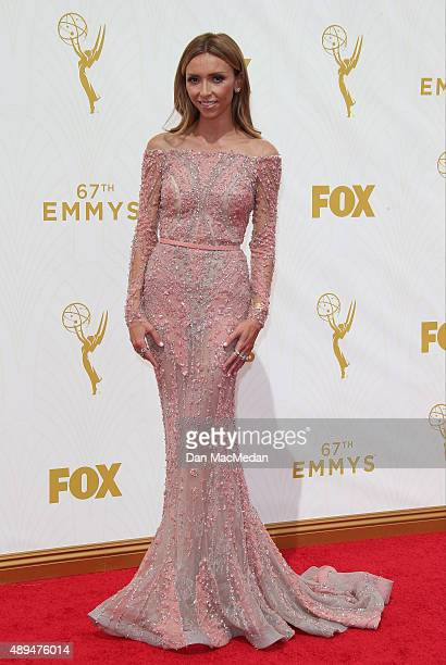 TV personality Giuliana Rancic arrives at the 67th Annual Primetime Emmy Awards at the Microsoft Theater on September 20 2015 in Los Angeles...