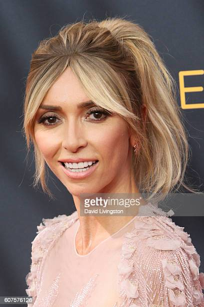 TV personality Giuliana Rancic arrives at the 68th Annual Primetime Emmy Awards at the Microsoft Theater on September 18 2016 in Los Angeles...