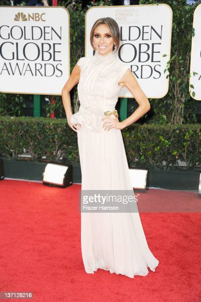TV personality Giuliana Rancic arrives at the 69th Annual Golden Globe Awards held at the Beverly Hilton Hotel on January 15 2012 in Beverly Hills...