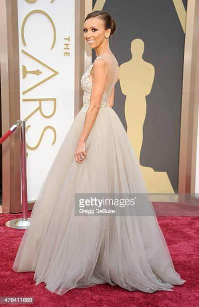 TV personality Giuliana Rancic arrives at the 86th Annual Academy Awards at Hollywood Highland Center on March 2 2014 in Hollywood California