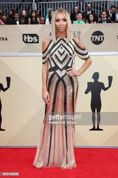 Personality Giuliana Rancic attends the 24th Annual Screen Actors Guild Awards at The Shrine Auditorium on January 21, 2018 in Los Angeles,...