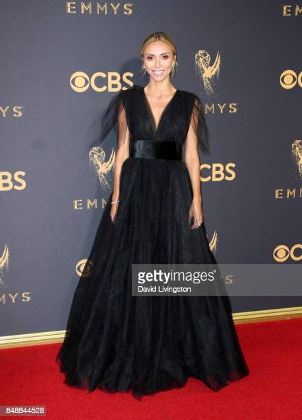 TV personality Giuliana Rancic attends the 69th Annual Primetime Emmy Awards Arrivals at Microsoft Theater on September 17 2017 in Los Angeles...