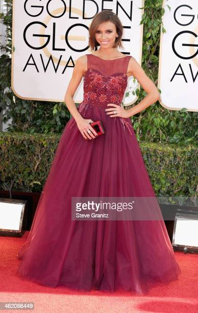 TV personality Giuliana Rancic attends the 71st Annual Golden Globe Awards held at The Beverly Hilton Hotel on January 12 2014 in Beverly Hills...