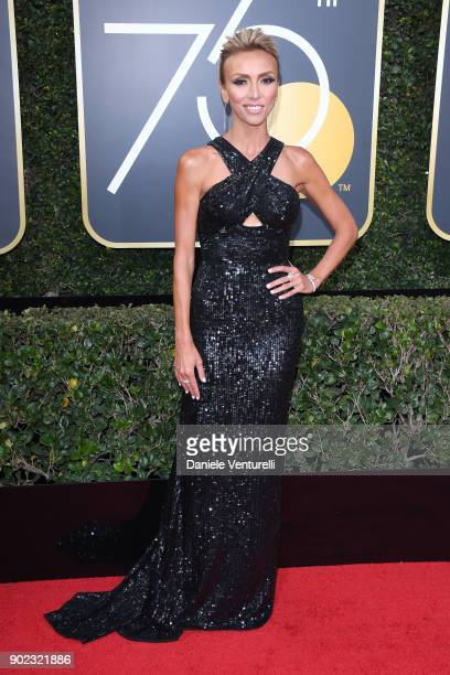 Personality Giuliana Rancic attends The 75th Annual Golden Globe Awards at The Beverly Hilton Hotel on January 7 2018 in Beverly Hills California