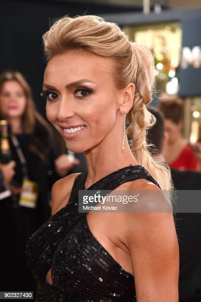 TV personality Giuliana Rancic attends The 75th Annual Golden Globe Awards at The Beverly Hilton Hotel on January 7 2018 in Beverly Hills California