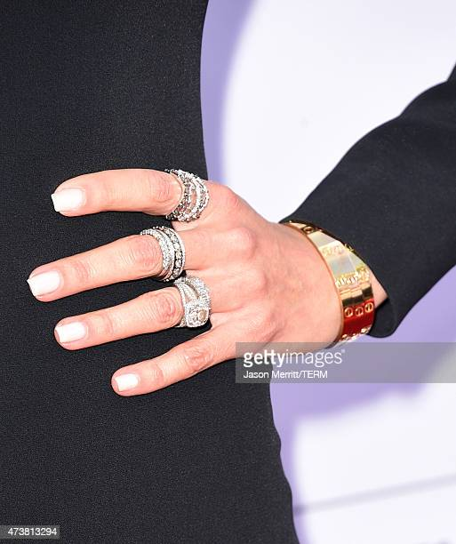 TV personality Giuliana Rancic fashion detail attends the 2015 Billboard Music Awards at MGM Grand Garden Arena on May 17 2015 in Las Vegas Nevada