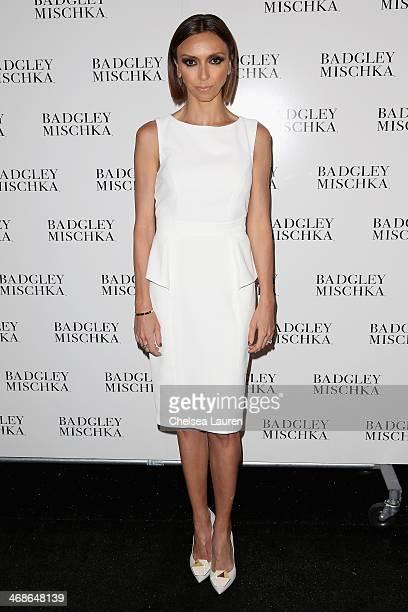 TV personality Giuliana Rancic poses backstage at the Badgley Mischka fashion show during MercedesBenz Fashion Week Fall 2014 at The Theatre at...