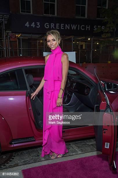 Personality Giuliana Rancic wearing Juan Carlos Obando attends The Pink Agenda 2016 Gala at Three Sixty on October 13 2016 in New York City