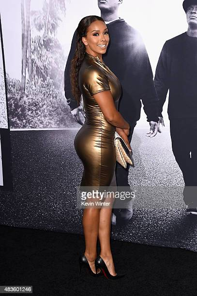 TV personality Gloria Govan attends the Universal Pictures and Legendary Pictures' premiere of 'Straight Outta Compton' at Microsoft Theater on...