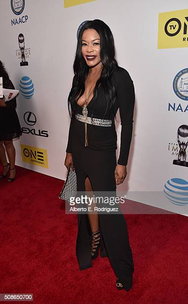 TV personality Golden Brooks onstage during the 47th NAACP Image Awards presented by TV One at Pasadena Civic Auditorium on February 5 2016 in...
