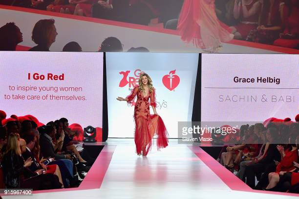 TV personality Grace Helbig walks the runway during the American Heart Association's Go Red For Women Red Dress Collection 2018 presented by Macy's...