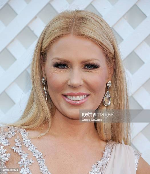 TV personality Gretchen Rossi arrives at HollyRod Foundation's 17th Annual DesignCare Gala at The Lot Studios on August 8 2015 in Los Angeles...