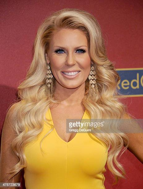 TV personality Gretchen Rossi arrives at the QVC 5th Annual Red Carpet Style event at The Four Seasons Hotel on February 28 2014 in Beverly Hills...