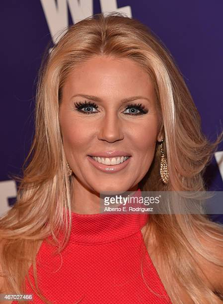 TV personality Gretchen Rossi attends the WE tv presents The Evolution of The Relationship Reality Show at The Paley Center for Media on March 19...