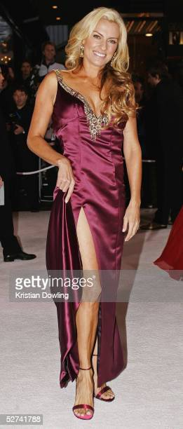 Personality Gretel Killeen arrives at the 47th Annual TV Week Logie Awards at the Crown Entertainment Complex May 1 2005 in Melbourne Australia