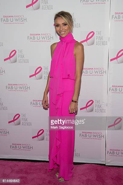 Personality Guiliana Rancic attends The Pink Agenda 2016 Gala at Three Sixty on October 13 2016 in New York City