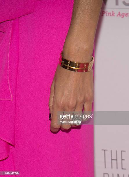 Personality Guiliana Rancic jewelry detail attends The Pink Agenda 2016 Gala at Three Sixty on October 13 2016 in New York City