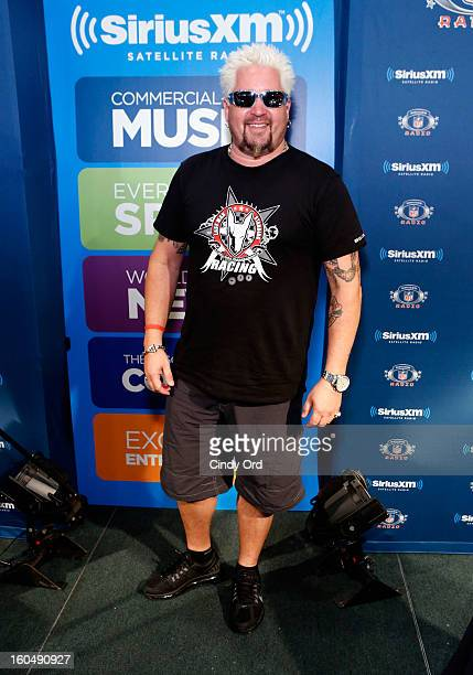 TV personality Guy Fieri attends SiriusXM's Live Broadcast from Radio Row during Bowl XLVII week on February 1 2013 in New Orleans Louisiana