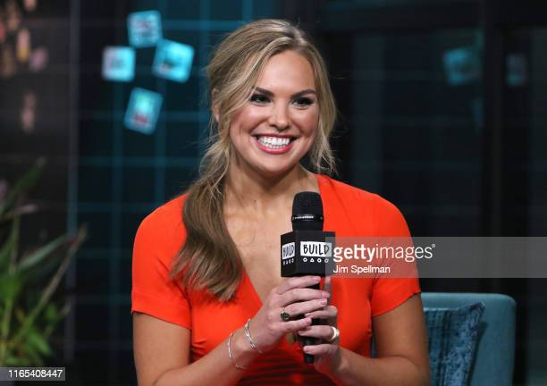 Personality Hannah Brown attends the Build Series to discuss The Bachelorette at Build Studio on July 31 2019 in New York City