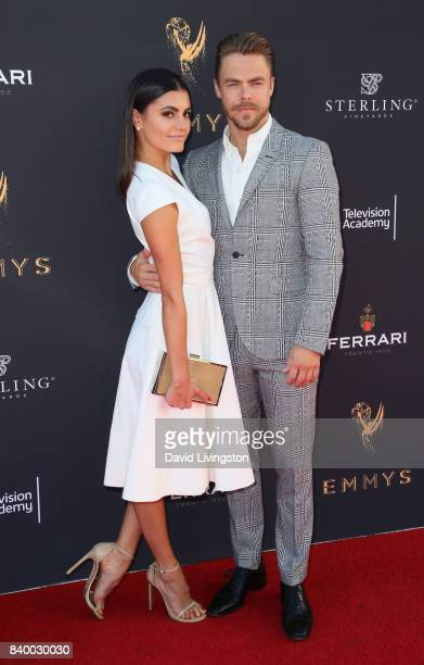 TV personality Hayley Erbert and dancer/TV personality Derek Hough attend the Television Academy's Choreography Peer Group Celebration at Saban Media...
