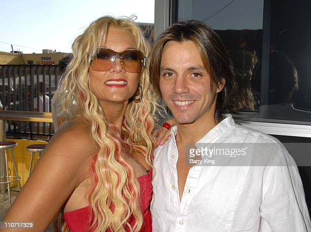 TV personality Heather Chadwell and actor Enrique Sapene attend the Second Annual Reality Check Benefit held at Here Lounge on June 7 2008 in West...