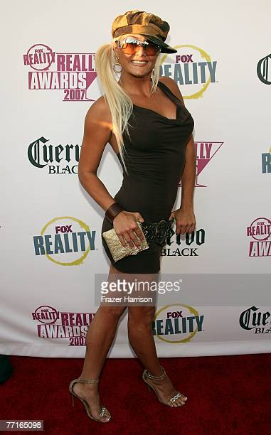 TV personality Heather Chadwell arrives at the 2007 Fox Reality Channel Really Awards held at Boulevard 3 on October 2 2007 in Hollywood California