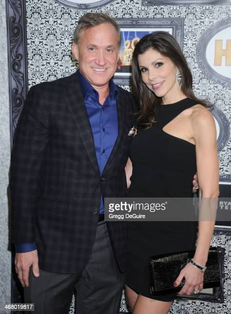 TV personality Heather Dubrow and husband Terry Dubrow arrive at the Family Equality Council's Annual Los Angeles Awards Dinner at The Globe Theatre...