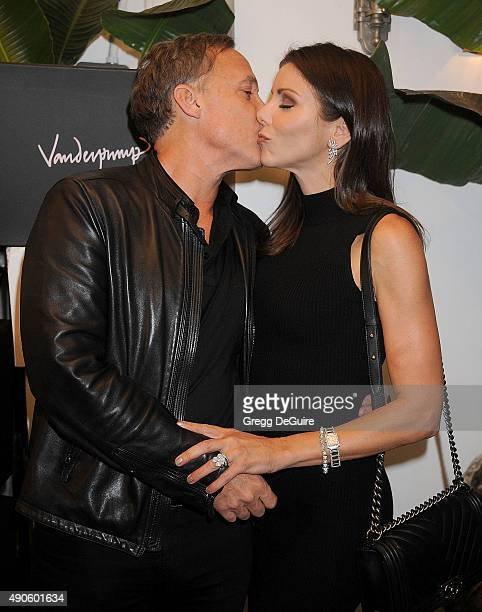 TV personality Heather Dubrow and husband Terry Dubrow arrive at the EVINE Live Celebration at Villa Blanca on September 29 2015 in Beverly Hills...