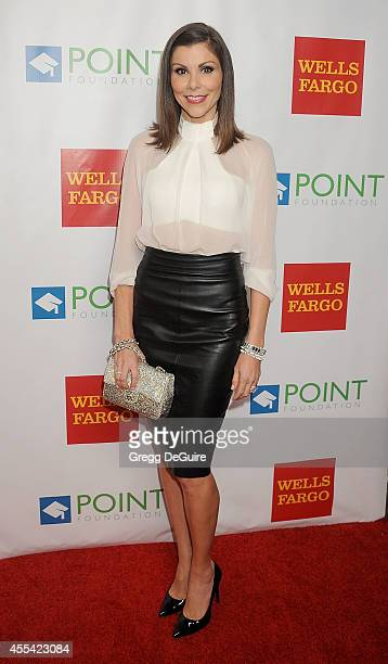 TV personality Heather Dubrow arrives at Point Foundation's Annual Voices On Point Fundraising Gala at the Hyatt Regency Century Plaza on September...