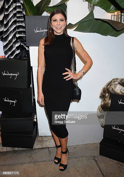 TV personality Heather Dubrow arrives at the EVINE Live Celebration at Villa Blanca on September 29 2015 in Beverly Hills California