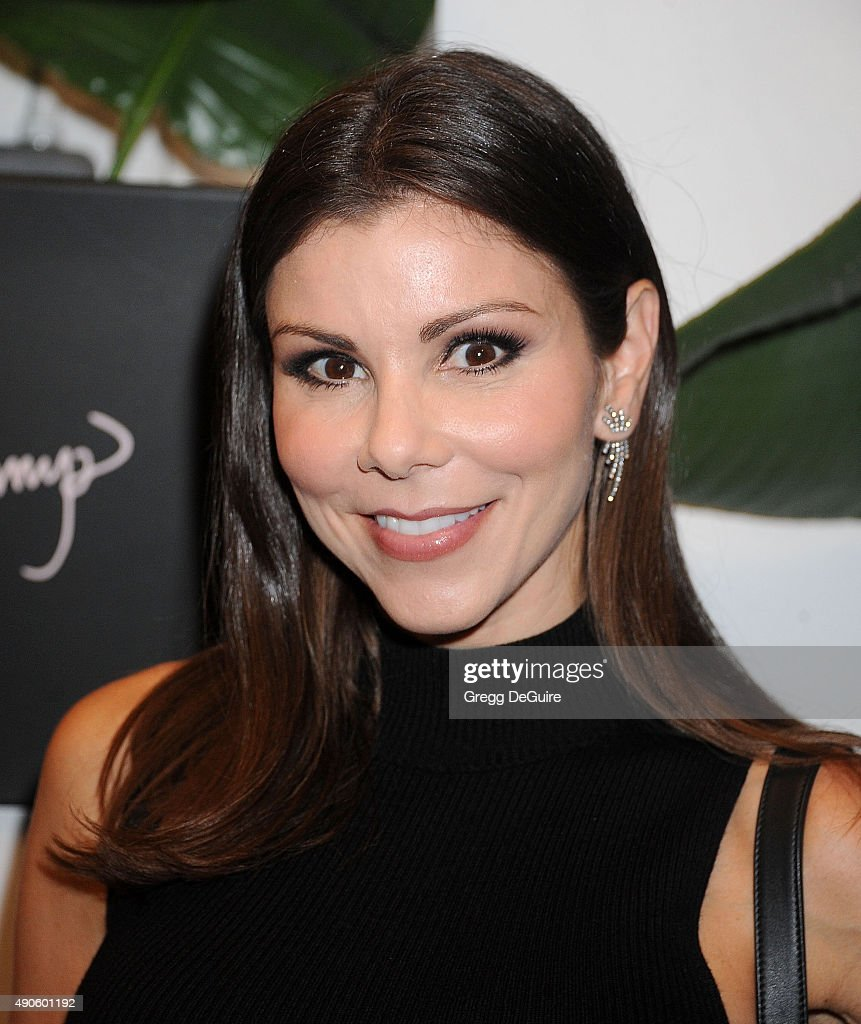 TV personality Heather Dubrow arrives at the EVINE Live