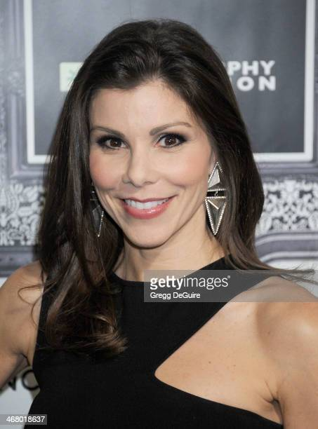 TV personality Heather Dubrow arrives at the Family Equality Council's Annual Los Angeles Awards Dinner at The Globe Theatre on February 8 2014 in...