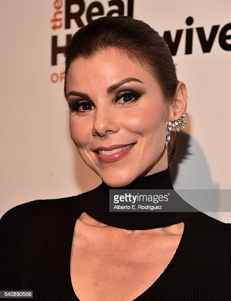 TV personality Heather Dubrow attends the premiere party for Bravo's The Real Housewives of Orange County 10 year celebration at Boulevard3 on June...