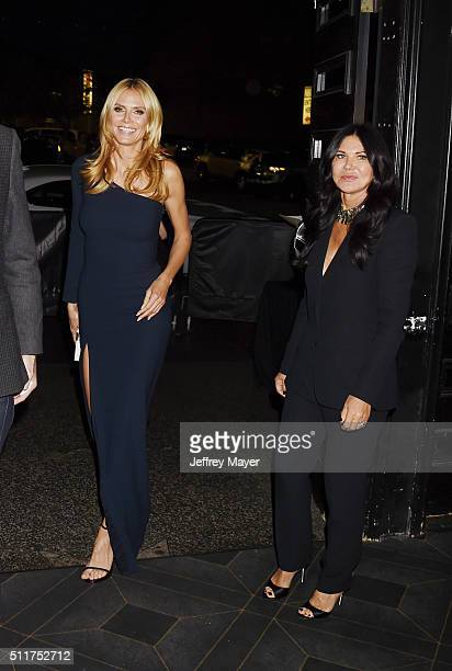 TV personality Heidi Klum and hair stylist Wendy Iles attend the 2nd Annual Hollywood Beauty Awards benefiting Children's Hospital Los Angeles at...