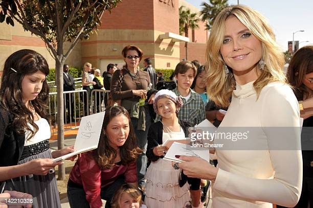 TV personality Heidi Klum arrives at Nickelodeon's 25th Annual Kids' Choice Awards held at Galen Center on March 31 2012 in Los Angeles California
