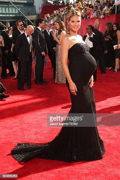 Personality Heidi Klum arrives at the 61st Primetime Emmy Awards held at the Nokia Theatre on September 20, 2009 in Los Angeles, California.