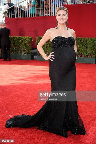 TV personality Heidi Klum arrives at the 61st Primetime Emmy Awards held at the Nokia Theatre on September 20 2009 in Los Angeles California