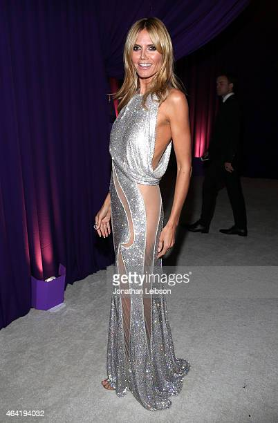 Personality Heidi Klum attends ROCA PATRON TEQUILA at the 23rd Annual Elton John AIDS Foundation Academy Awards Viewing Party on February 22, 2015 in...