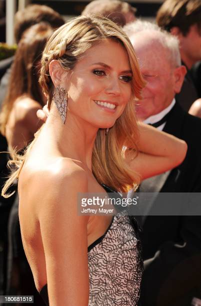 Personality Heidi Klum attends the 2013 Creative Arts Emmy Awards at Nokia Theatre L.A. Live on September 15, 2013 in Los Angeles, California.