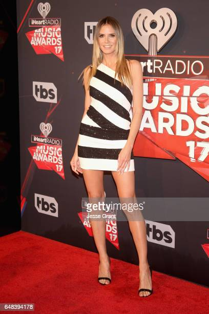 TV personality Heidi Klum attends the 2017 iHeartRadio Music Awards which broadcast live on Turner's TBS TNT and truTV at The Forum on March 5 2017...