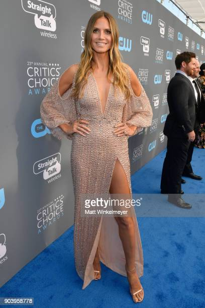 TV personality Heidi Klum attends The 23rd Annual Critics' Choice Awards at Barker Hangar on January 11 2018 in Santa Monica California