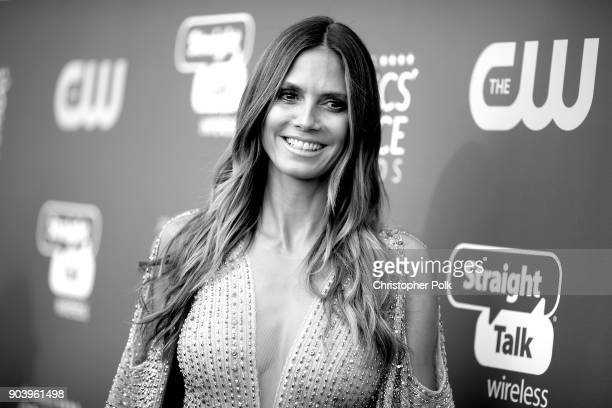 TV personality Heidi Klum attends The 23rd Annual Critics' Choice Awards at Barker Hangar on January 11 2018 in Santa Monica California
