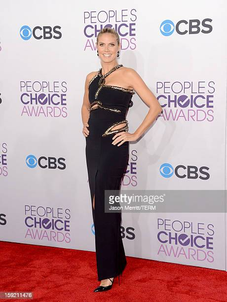 TV personality Heidi Klum attends the 39th Annual People's Choice Awards at Nokia Theatre LA Live on January 9 2013 in Los Angeles California