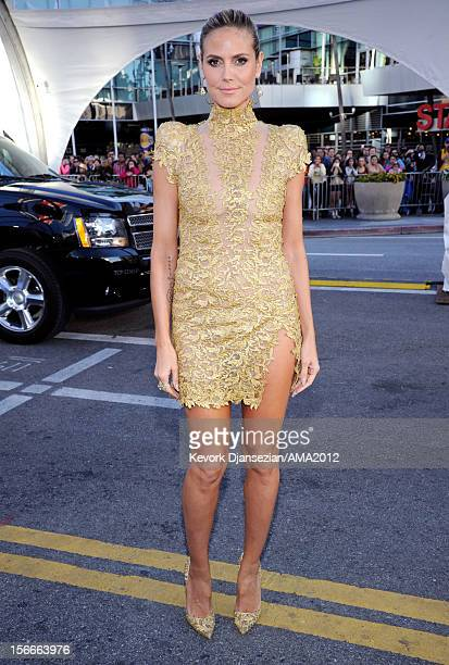 Personality Heidi Klum attends the 40th American Music Awards held at Nokia Theatre L.A. Live on November 18, 2012 in Los Angeles, California.