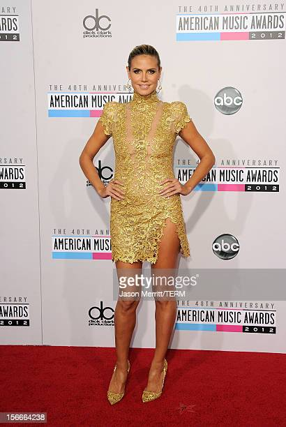 TV personality Heidi Klum attends the 40th American Music Awards held at Nokia Theatre LA Live on November 18 2012 in Los Angeles California