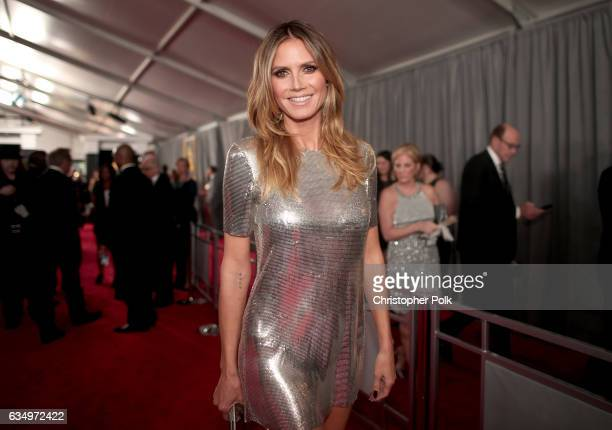 Personality Heidi Klum attends The 59th GRAMMY Awards at STAPLES Center on February 12, 2017 in Los Angeles, California.
